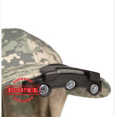 Фонарь тактический Mil-Tec CAP LIGHT 3 LED, фото 2