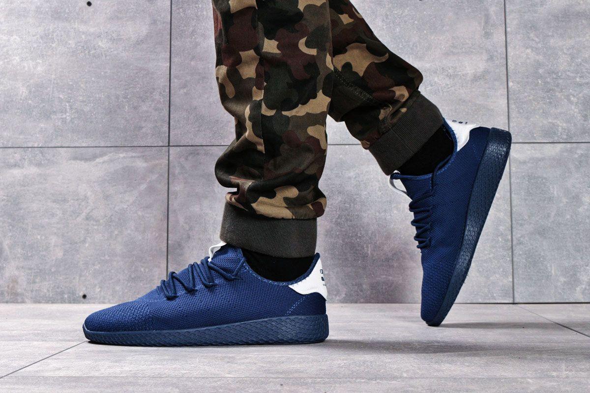 Кроссовки мужские 16242, Adidas Pharrell Williams, темно-синие ( 41 42 43 44 45  )