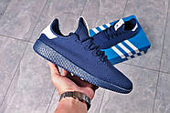Кроссовки мужские 16242, Adidas Pharrell Williams, темно-синие ( 41 42 43 44 45  ), фото 6