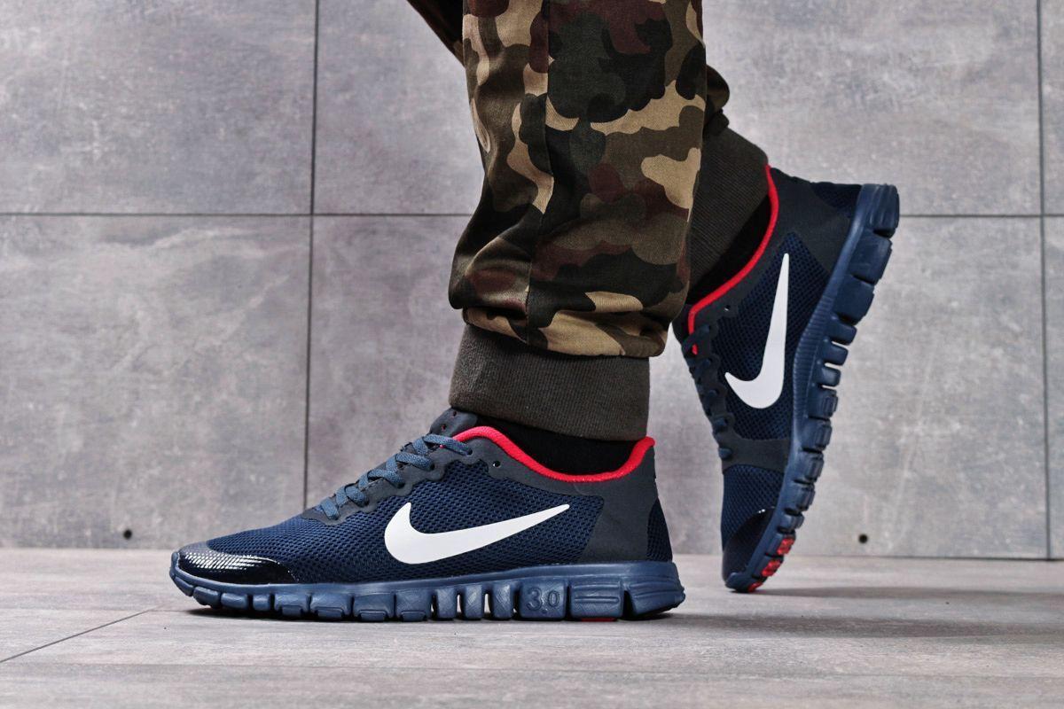 Кроссовки мужские 16252, Nike Free 3.0 (топ ААА), темно-синие ( 40 42 43 44 45  )