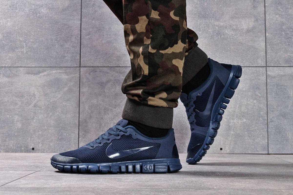 Кроссовки мужские 16254, Nike Free 3.0 (топ ААА), темно-синие ( 41 42 43 44  )