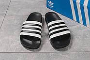 Шлепанцы мужские 16282, Adidas, черные ( 44  ), фото 6