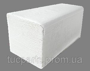 Бумажные полотенца белые V – образного сложения, для диспенсеров, целлюлоза 160 шт. в уп.