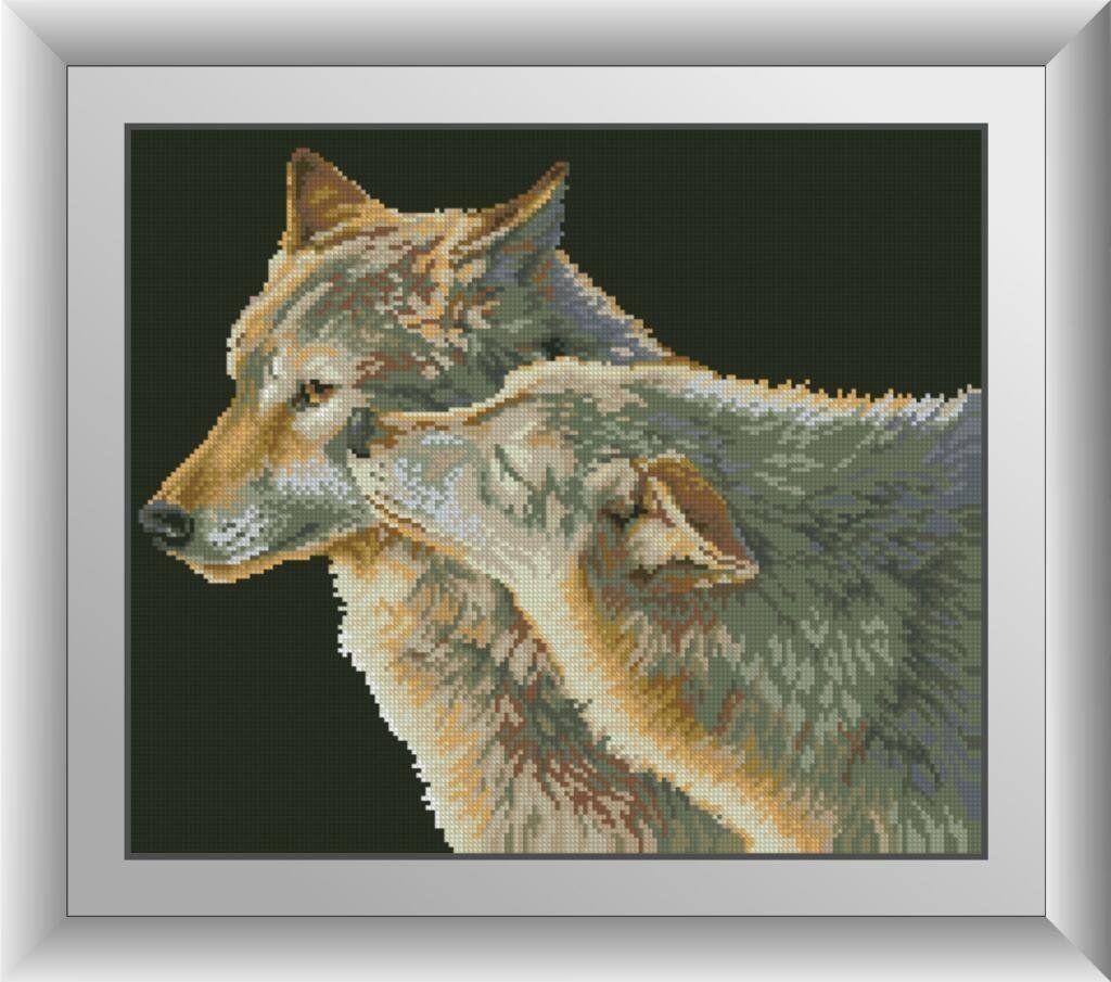 30222 Набор алмазной мозаики Поцелуй волка