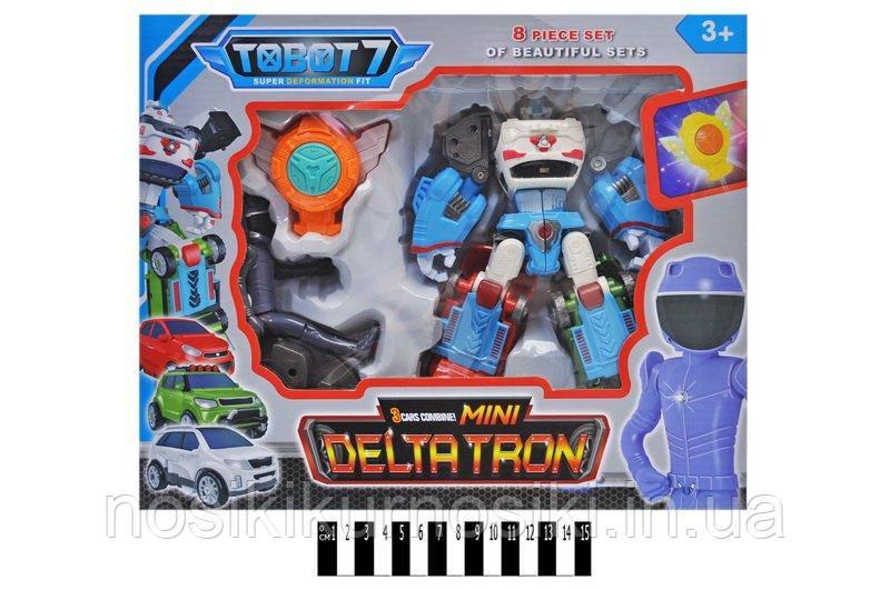 Трансформер Tobot 7 Міні Дельтатрон Mini Deltatron - висота 19 см, світло, звук
