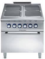 Плита электрическая (4 квадратные зоны нагрева по 4 кВт) на электрическом жарочном шкафу