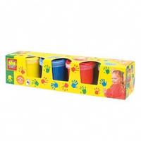 Краски пальчиковые Мои первые рисунки 4 цвета в пластиковых баночках