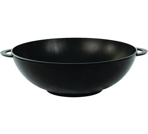 Сковородка-вок (алюминий+тефлон)  4 л./28 см ТМ БИОЛ с двумя литыми ручками , фото 2