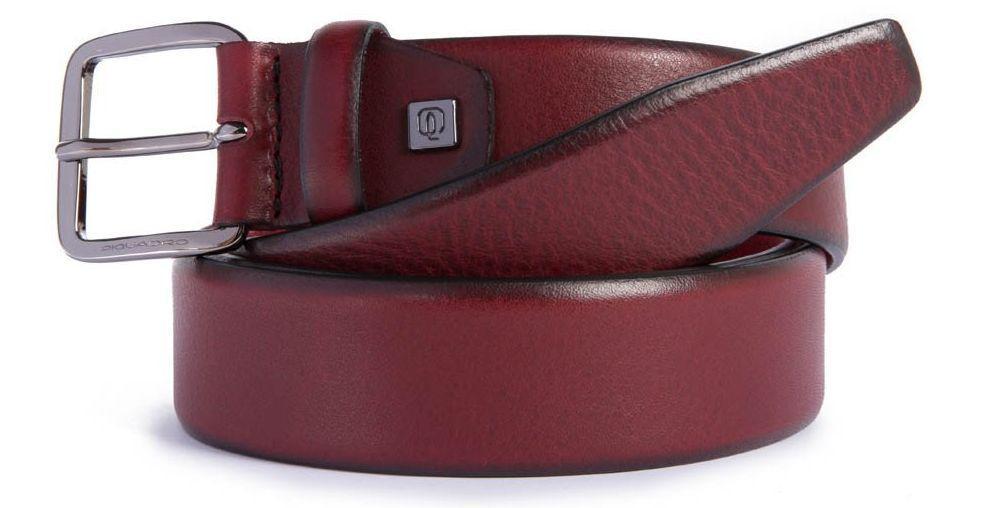 Мужской кожаный ремень Piquadro B2s  коричневый  125х3,5 см