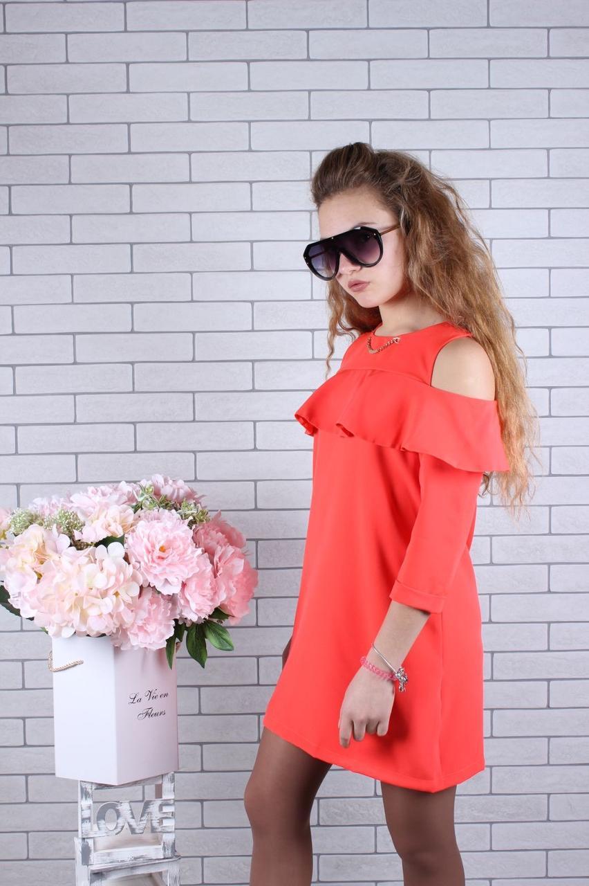 Платье для девочки с воланами р.134-164 опт