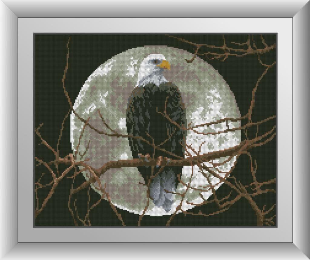 30238 Набор алмазной мозаики Орел под луной