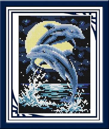 30245 Набор алмазной мозаики Дельфины, фото 2