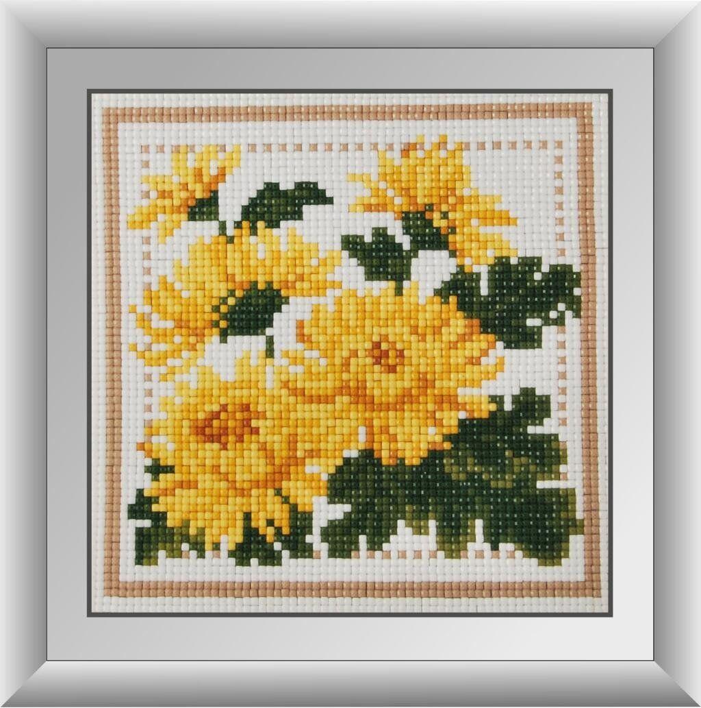 30255 Набор алмазной мозаики Желтые астры