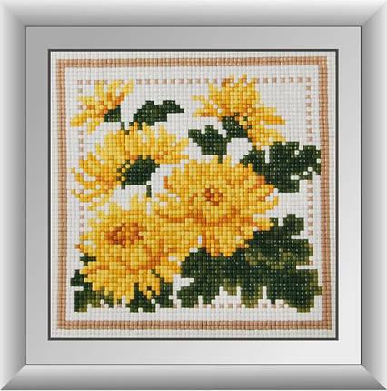 30255 Набор алмазной мозаики Желтые астры, фото 2