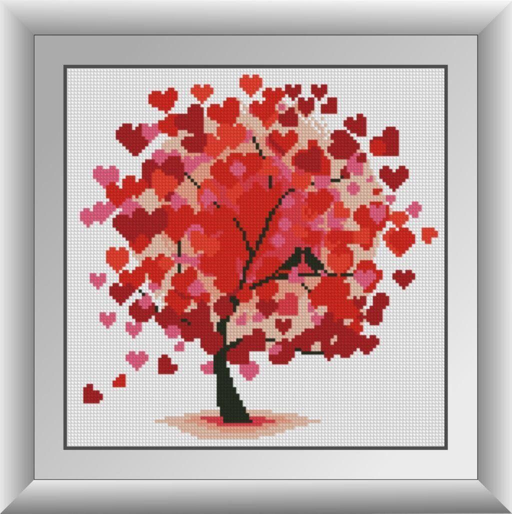 30256 Набор алмазной мозаики Дерево любви
