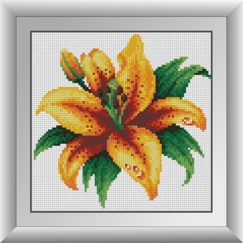 30286 Набор алмазной мозаики Огненная лилия