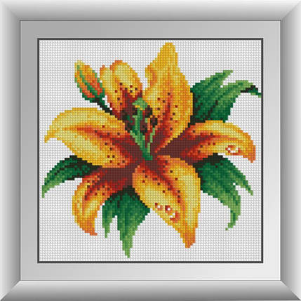 30286 Набор алмазной мозаики Огненная лилия, фото 2