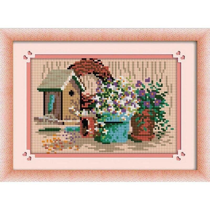 30287 Набор алмазной мозаики Цветочные вазоны