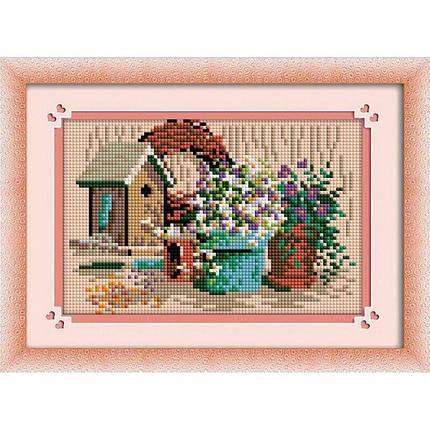 30287 Набор алмазной мозаики Цветочные вазоны, фото 2