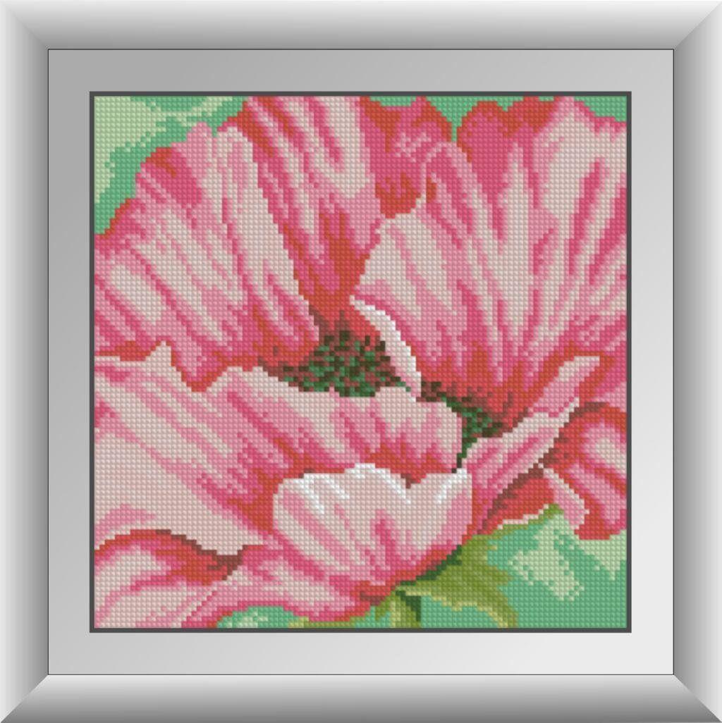 30294 Набор алмазной мозаики Розовые маки