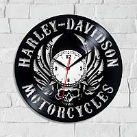 Виниловые часы Часы в гараж Подарок другу Часы с мотоциклом Фанату мотоциклов