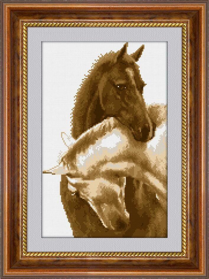 30306 Набор алмазной мозаики Пара лошадей