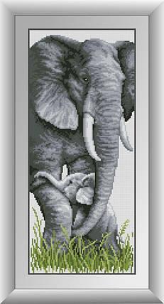 30312 Набор алмазной мозаики Слоны, фото 2