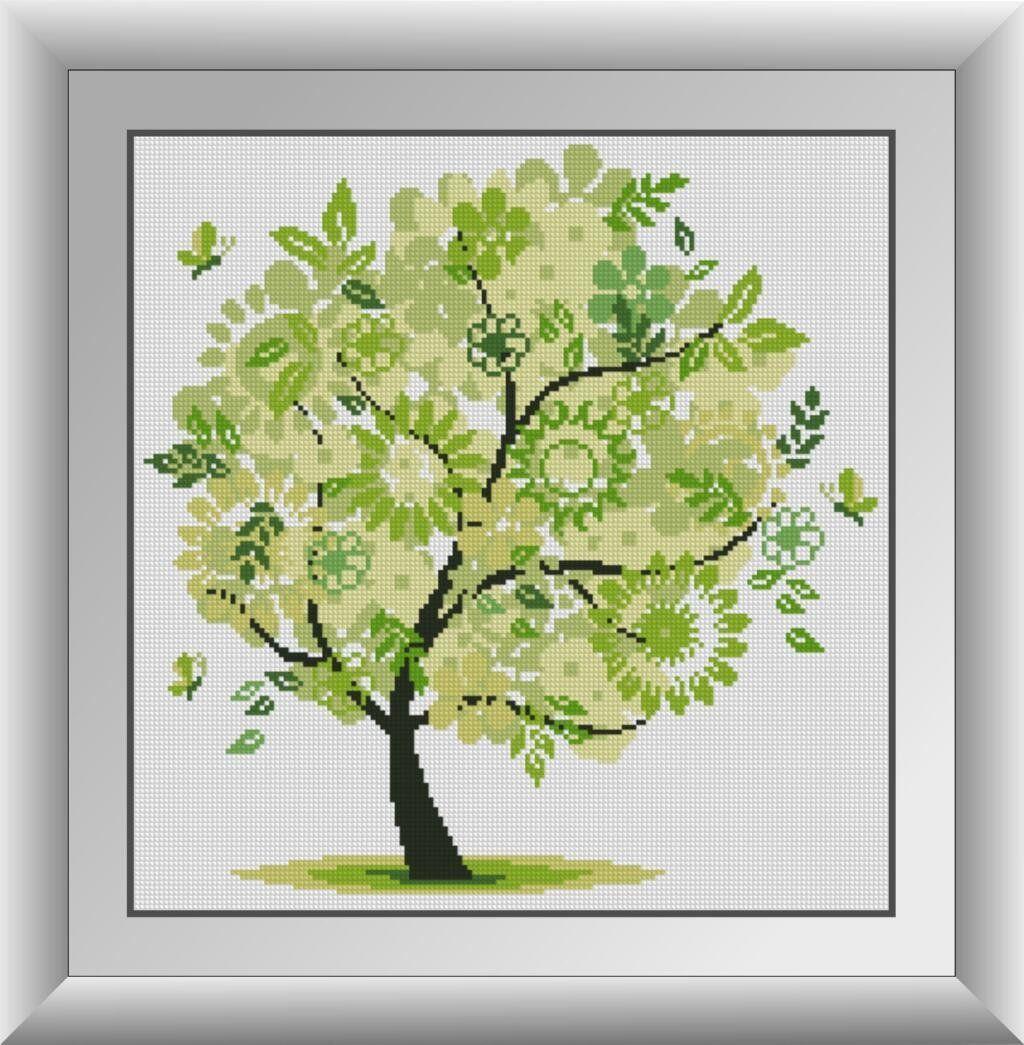 30313 Набор алмазной мозаики Весеннее дерево