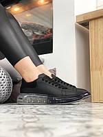 Кроссовки Кожаные Черные Alexander McQUEEN Black Oversized