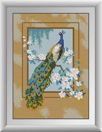 30327 Набор алмазной мозаики Павлин, фото 2