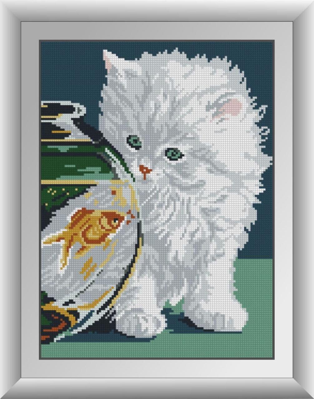 30343 Набор алмазной мозаики Белый котенок