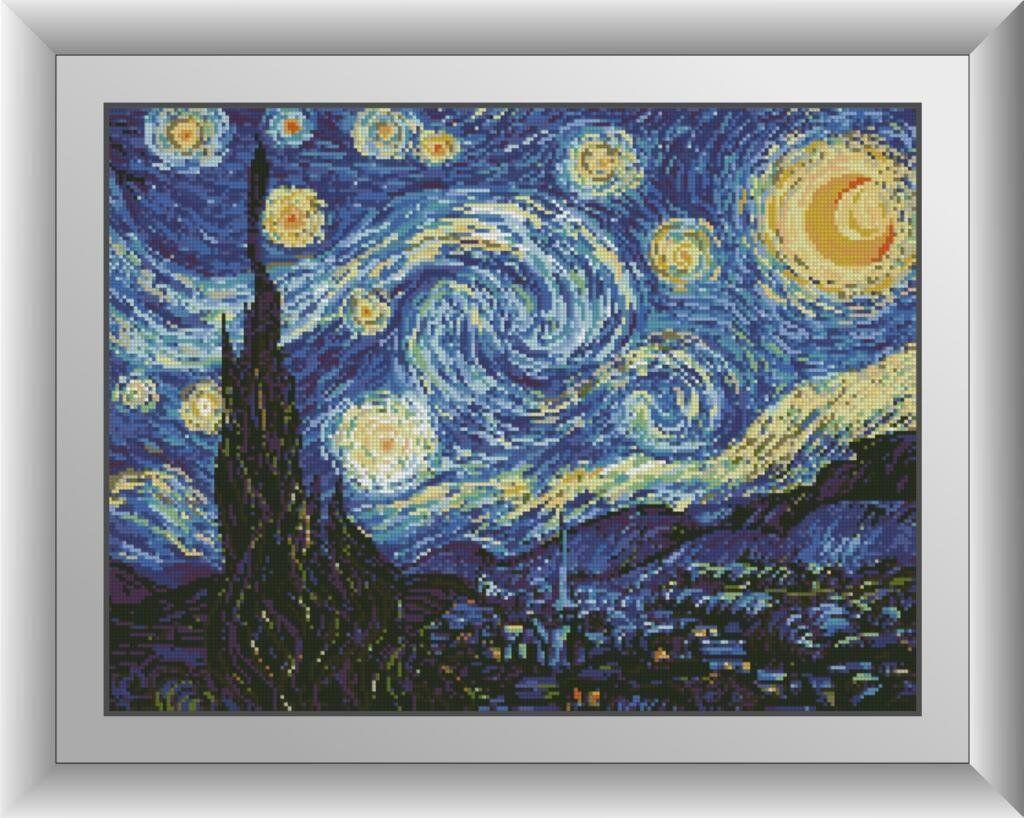 30361 Набор алмазной мозаики Звездная ночь. Ван Гог