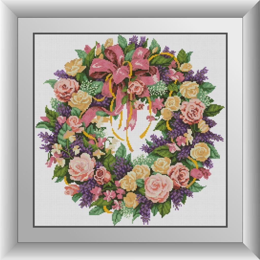 30377 Набор алмазной мозаики Венок из роз
