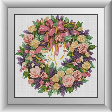 30377 Набор алмазной мозаики Венок из роз, фото 2