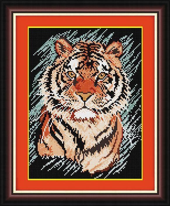 30384 Набор алмазной мозаики Полосатый хищник