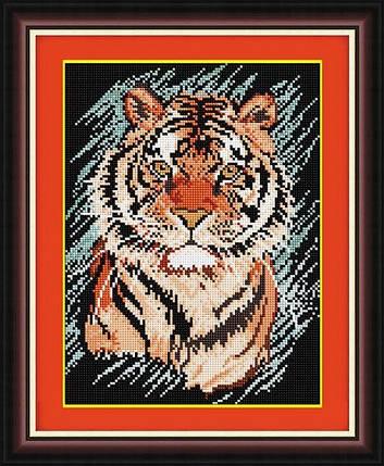 30384 Набор алмазной мозаики Полосатый хищник, фото 2