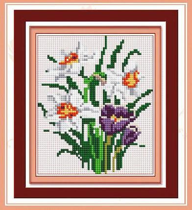 30392 Набор алмазной мозаики Весенний букет, фото 2
