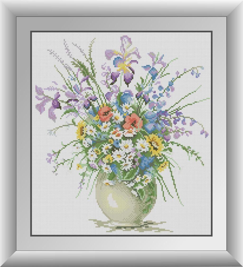 30403 Набор алмазной мозаики Полевые цветы