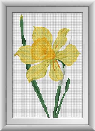 30407 Набор алмазной мозаики Нарцисс, фото 2