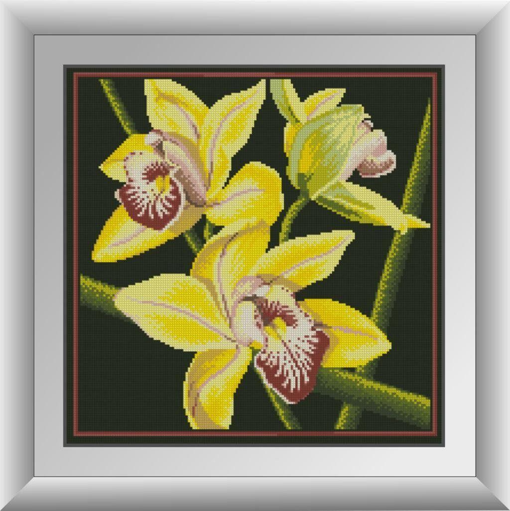 30412 Набор алмазной мозаики Желтая орхидея