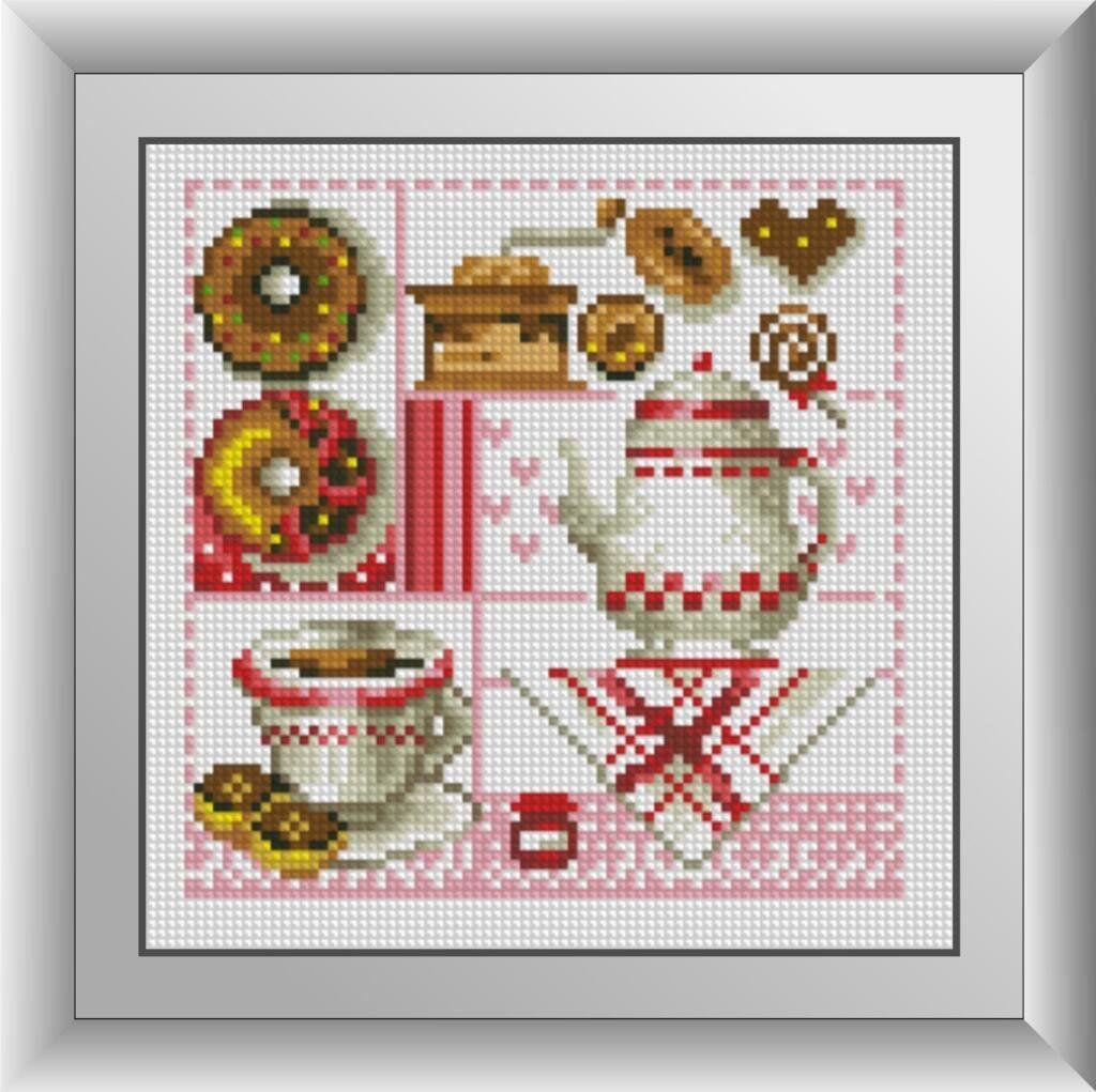30422 Набор алмазной мозаики Кофе и пончики