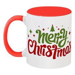 Кружка Merry Christmas (красная)