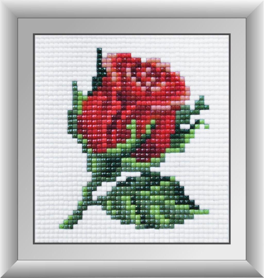 30432м Набор алмазной мозаики Красная розочка