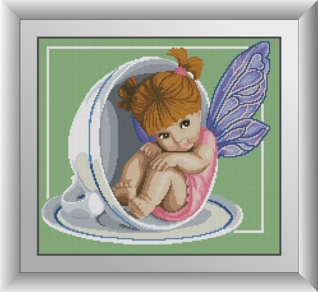 30437 Набор алмазной мозаики Чайная фея