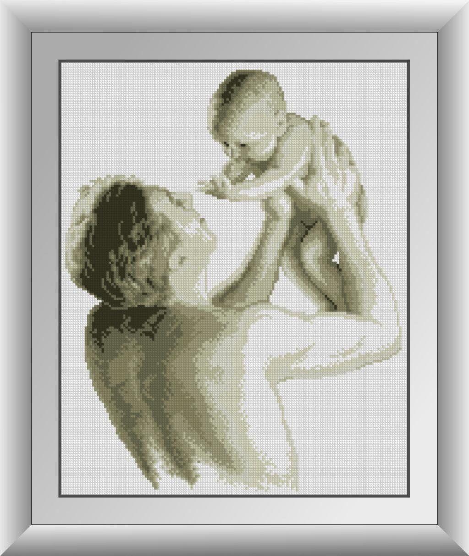30443 Набор алмазной мозаики Отец с малышом