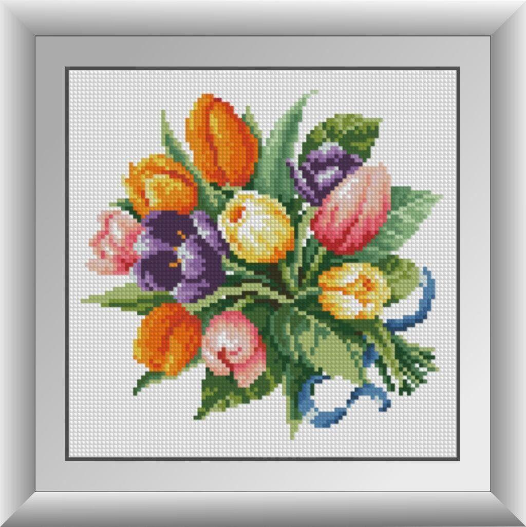 30444 Набор алмазной мозаики Тюльпаны