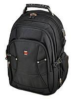 Большой городской рюкзак с жесткой спинкой Power In Eavas 3886 black, фото 1