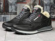 Зимние кроссовки  на мехуReebok Classic, черные (31111) размеры в наличии ► [  (последняя пара)  ], фото 2