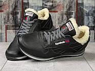 Зимние кроссовки  на мехуReebok Classic, черные (31111) размеры в наличии ► [  (последняя пара)  ], фото 3