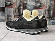 Зимние кроссовки  на мехуReebok Classic, черные (31111) размеры в наличии ► [  (последняя пара)  ], фото 4